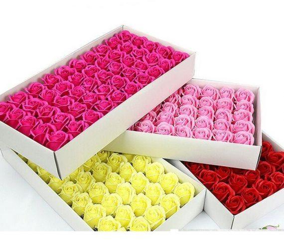 50-pcs-set-scented-bath-soap-rose-soap-flower