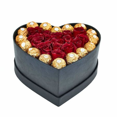 Aranjament floral cu trandafiri sapun