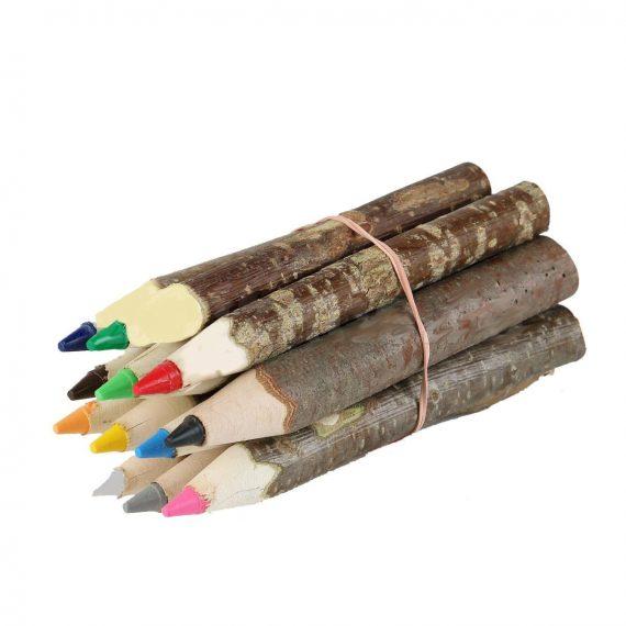 Creioane lucrate manual, lemn natur