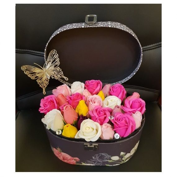 Cutie cu flori de sapun , shine