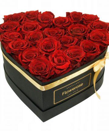 Cutie inima cu trandafiri de sapun , 200gr