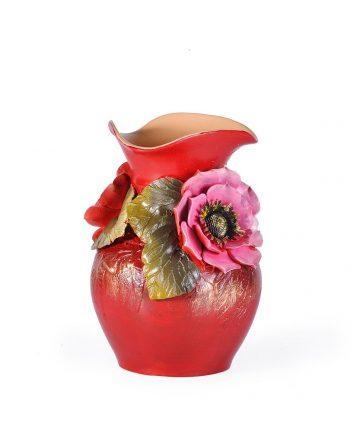 Vaza UNICAT, cu flori in relief, 3D, 20 cm inaltime