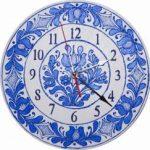 ceas-perete-pictat-manual-cu-motiv-albastru-corund-model-1-0039bmm