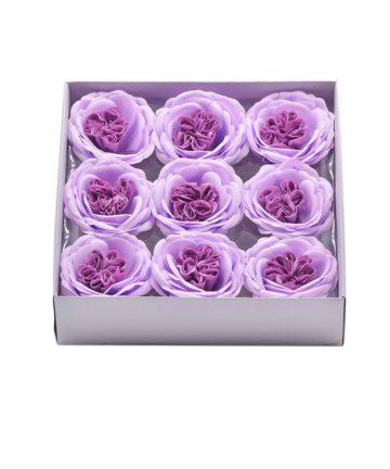Cutie cu 9 trandafiri de sapun Austin