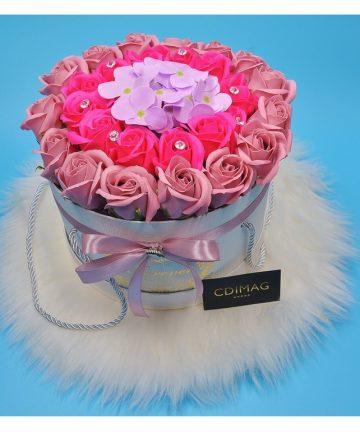 Cutie cu trandafiri si hortensie de sapun, Hand Made by CDIMAG®-1