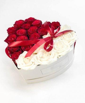 Aranjament Floral Cutie cu Trandafiri Sapun , love, CDIMAG - CDI-121