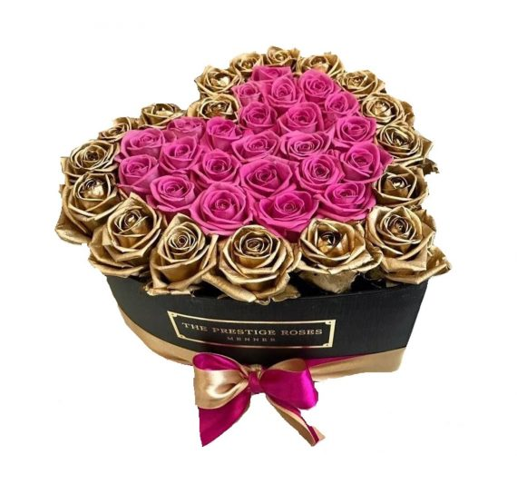 Cutie cu 40 trandafiri de sapun