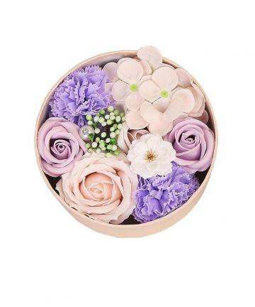 Cutie cu Floare de Colt Naturala conservata si flori de sapun