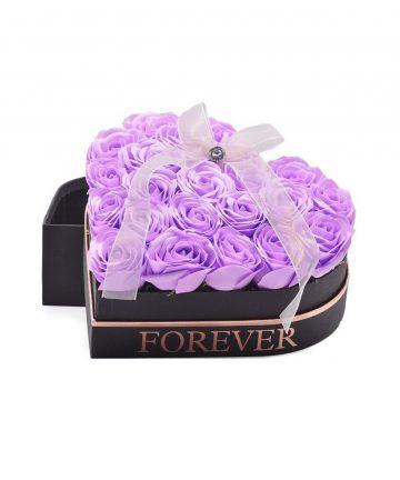 Cutie cu Lux cu 22 trandafiri