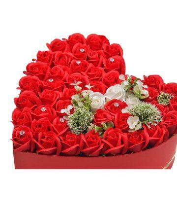 Cutie cu flori artificiale, Hand Made by CDIMAG®