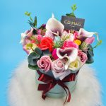 Cutie cu flori de sapun si cale de spuma-1