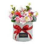 Cutie cu flori de sapun si cale de spuma