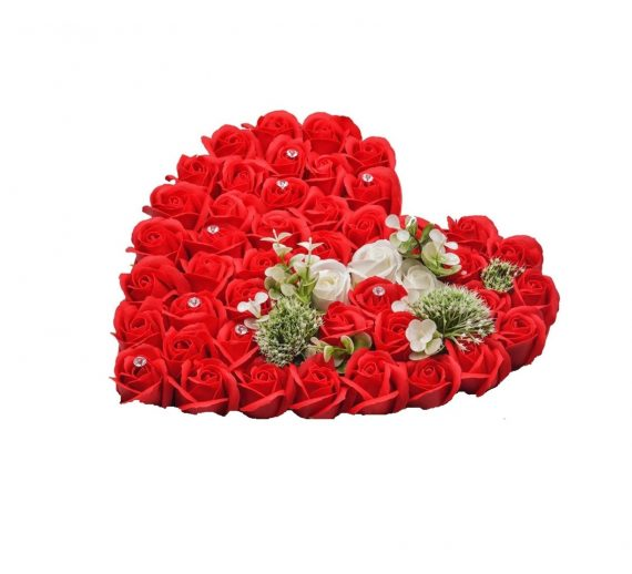Cutie cu trandafiri de sapun si floare de Colt Conservata-00