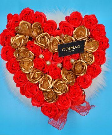 Cutie inima cu trandafiri de sapun-02