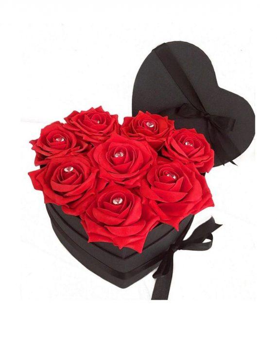 Set 10 trandafiri de sapun, rosii