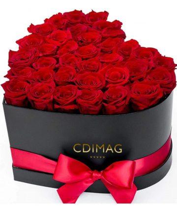 Set cadou cu trandafiri sapun, Floare de Colt conservata