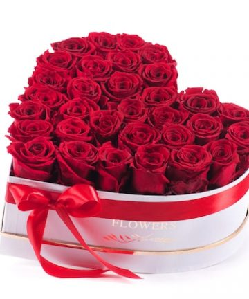 Aranjament floral LUX, cu trandafiri de sapun